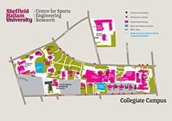 Map of Collegiate campus